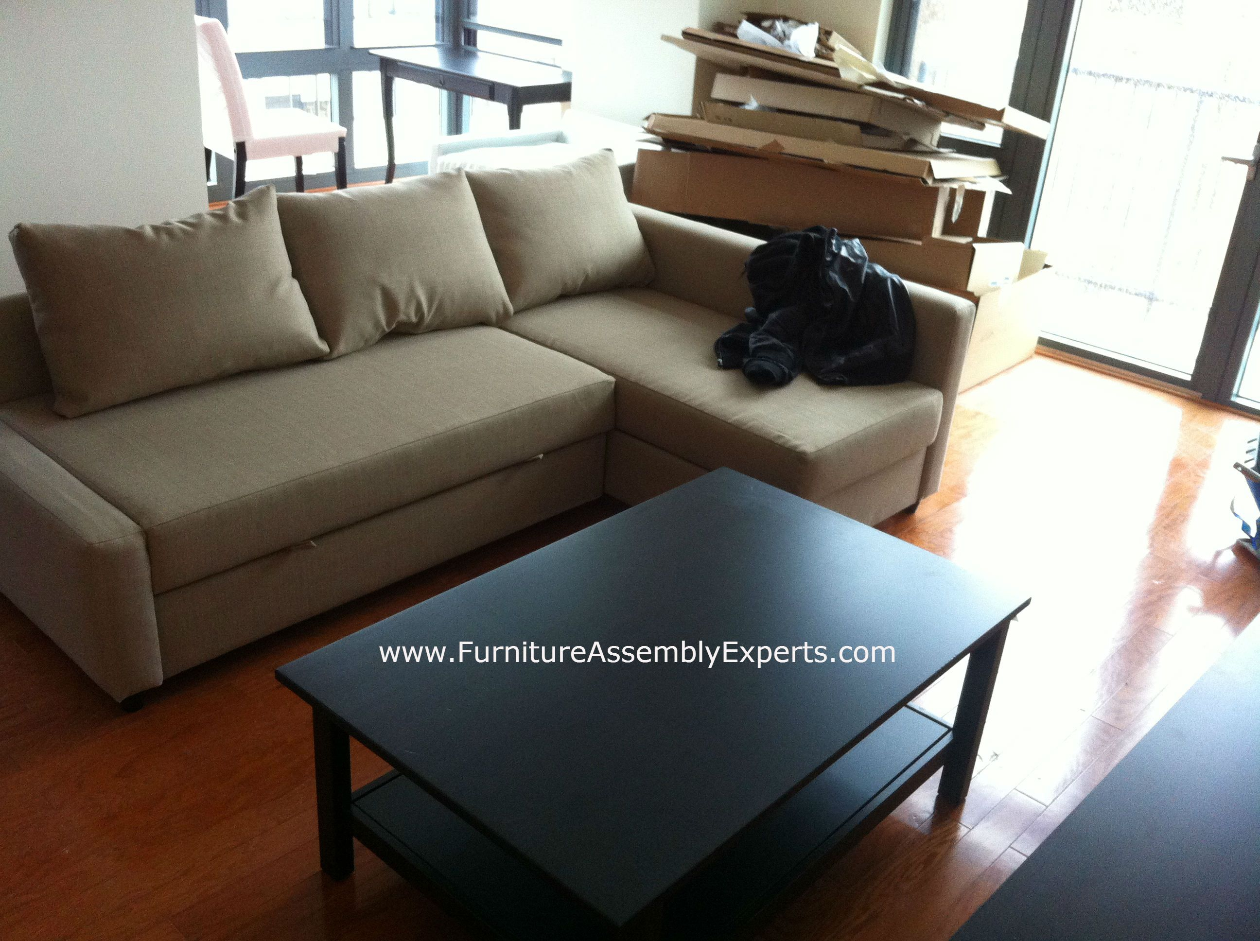 Sofa bed with storage ikea - Ikea Sectional Sofa Bed With Storage Unit Assembled In Assembled In Baltimore Md By Furniture Assembly