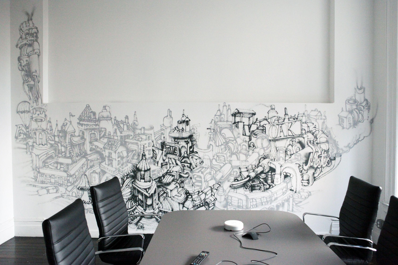 Office new york city graffiti artist gorey indoor murals