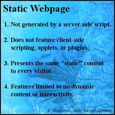 Plain-English Definition #Infographic: Static #webpage | Web