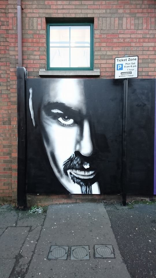 George Michael Street Art Tribute by Glen Moloy in #belfast #streetart #Ireland