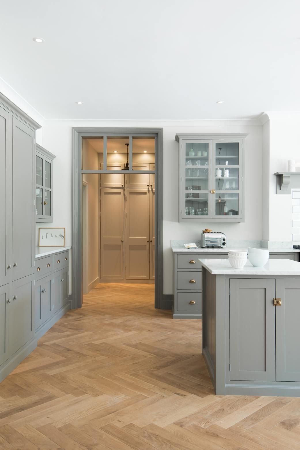 The Queens Park Kitchen   deVOL Kitchens   Herringbone wood floor ...