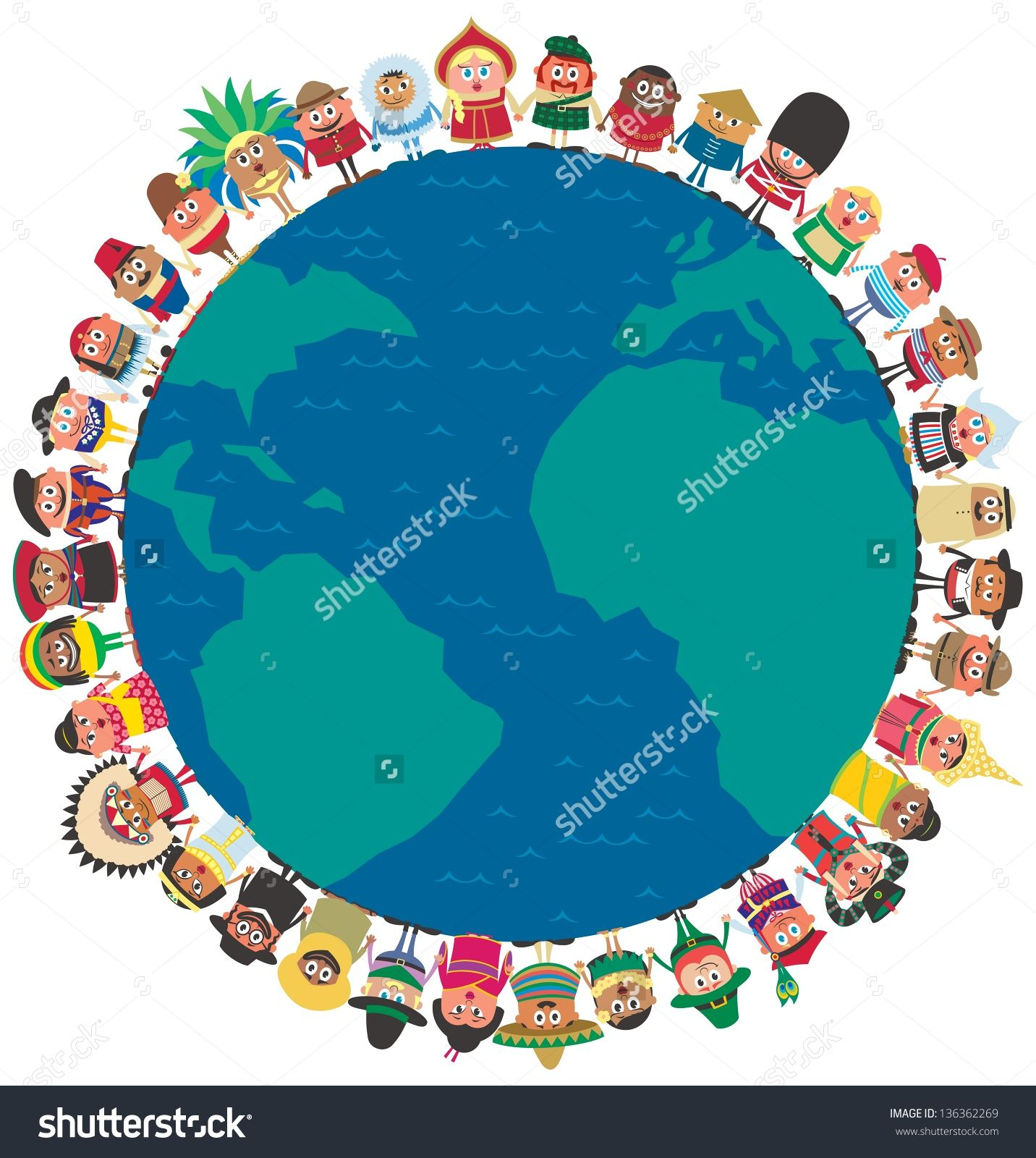 Around the world stock vectors vector clip art shutterstock unity people from around the world holding hands as a symbol of unity no transparency and gradients used ai cdr eps jpeg and psd files buycottarizona Gallery