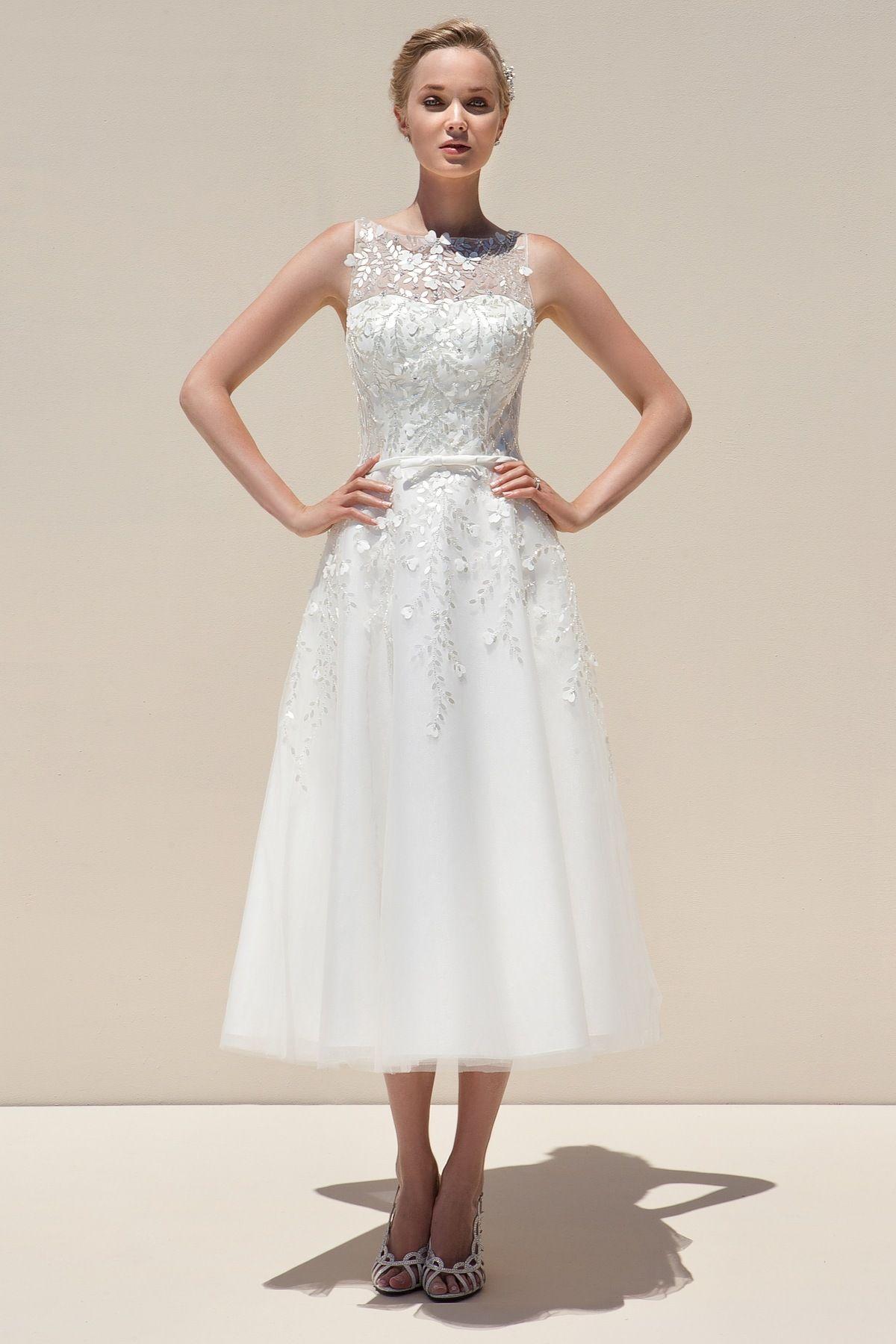 Mark lesley tea length wedding dress style mlb dress pinterest