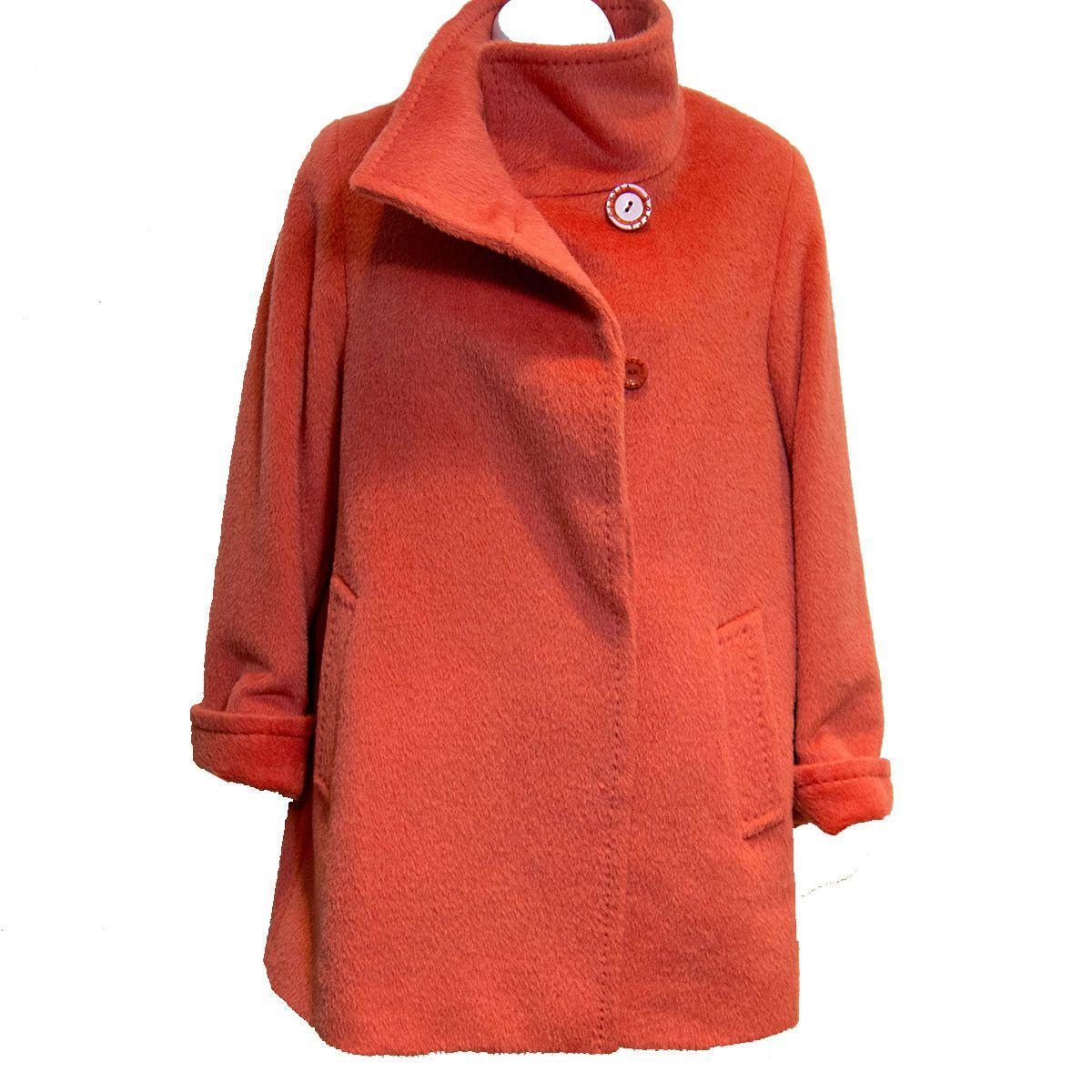 Cinzia Rocca Lama and Wool Berry Car Coat