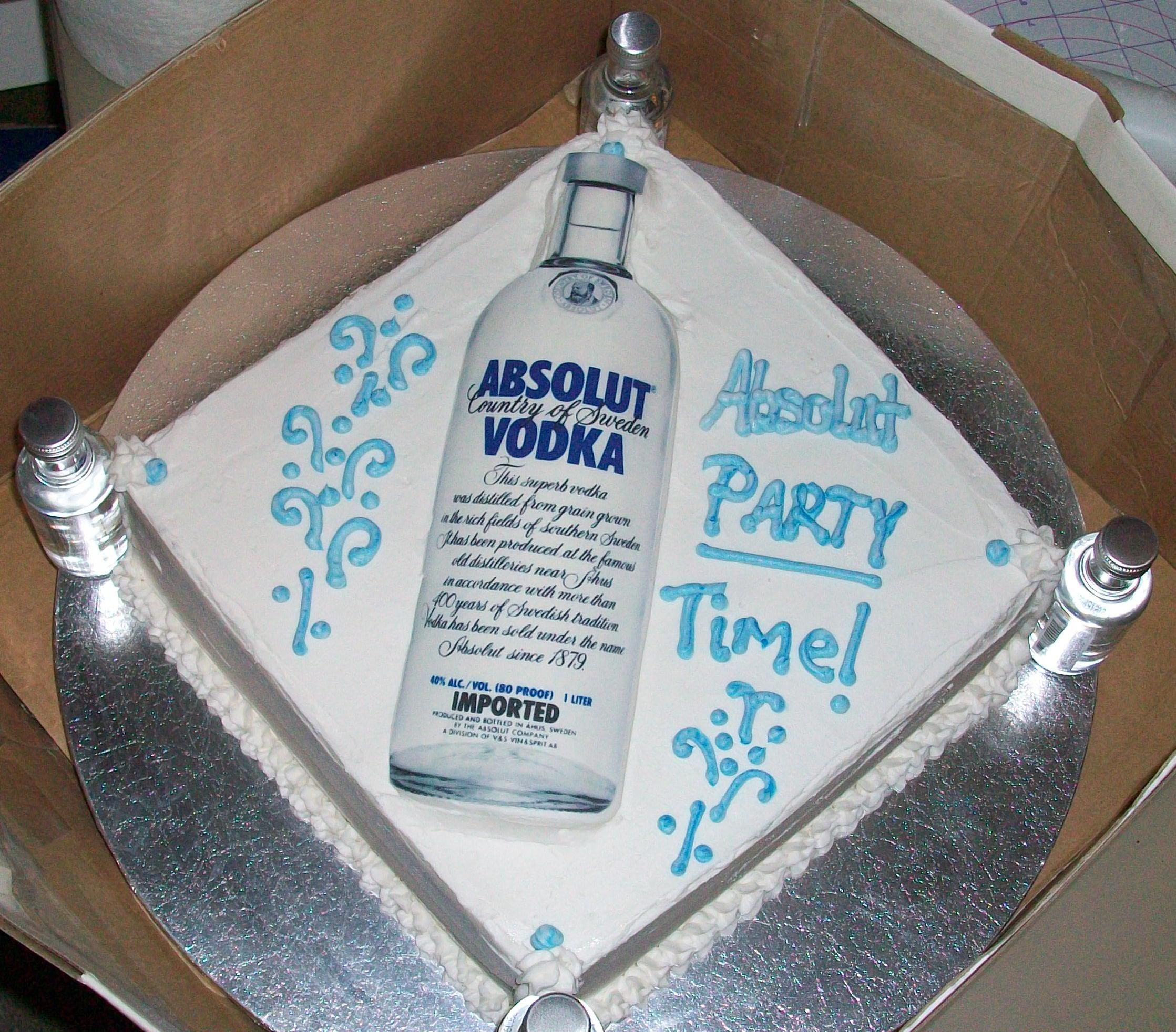 The Absolute Cake No I Did Not Put A Bottle Of Vodka On