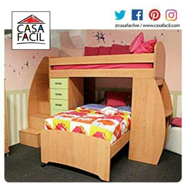Si tus pequeñas duermen en el mismo cuarto, regalales independencia con nuestra grandiosa cama modelo Belén