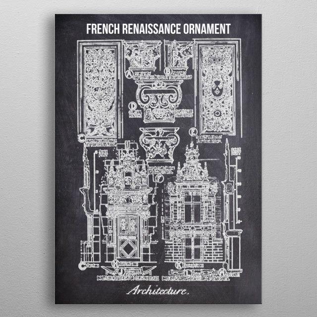 french renaissance by FARKI15 DESIGN | metal posters - Displate | Displate thumbnail