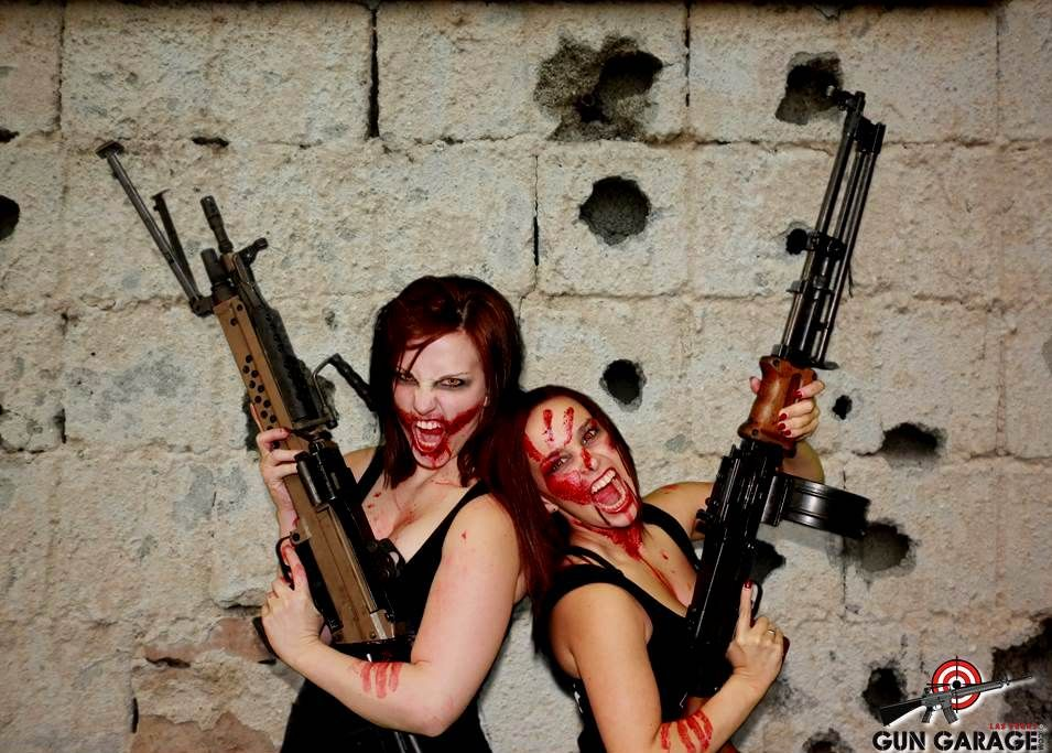 garage zombie. watch out for our zombie gun girlswhen theyu0027re not at garage they can be found asylum and hotel fear haunted houses