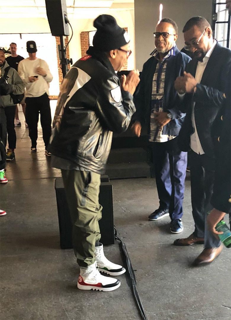 fc92c0a02b2 Spike Lee Spotted In PE Version Of The Air Jordan 1 Reimagined Jester