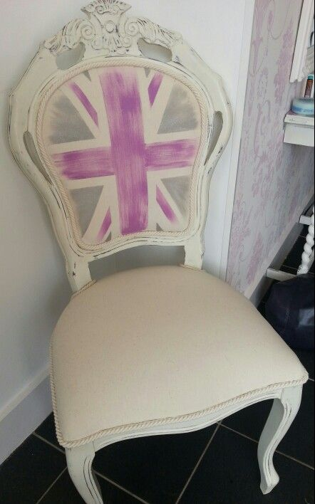 Up cycled dining chair .