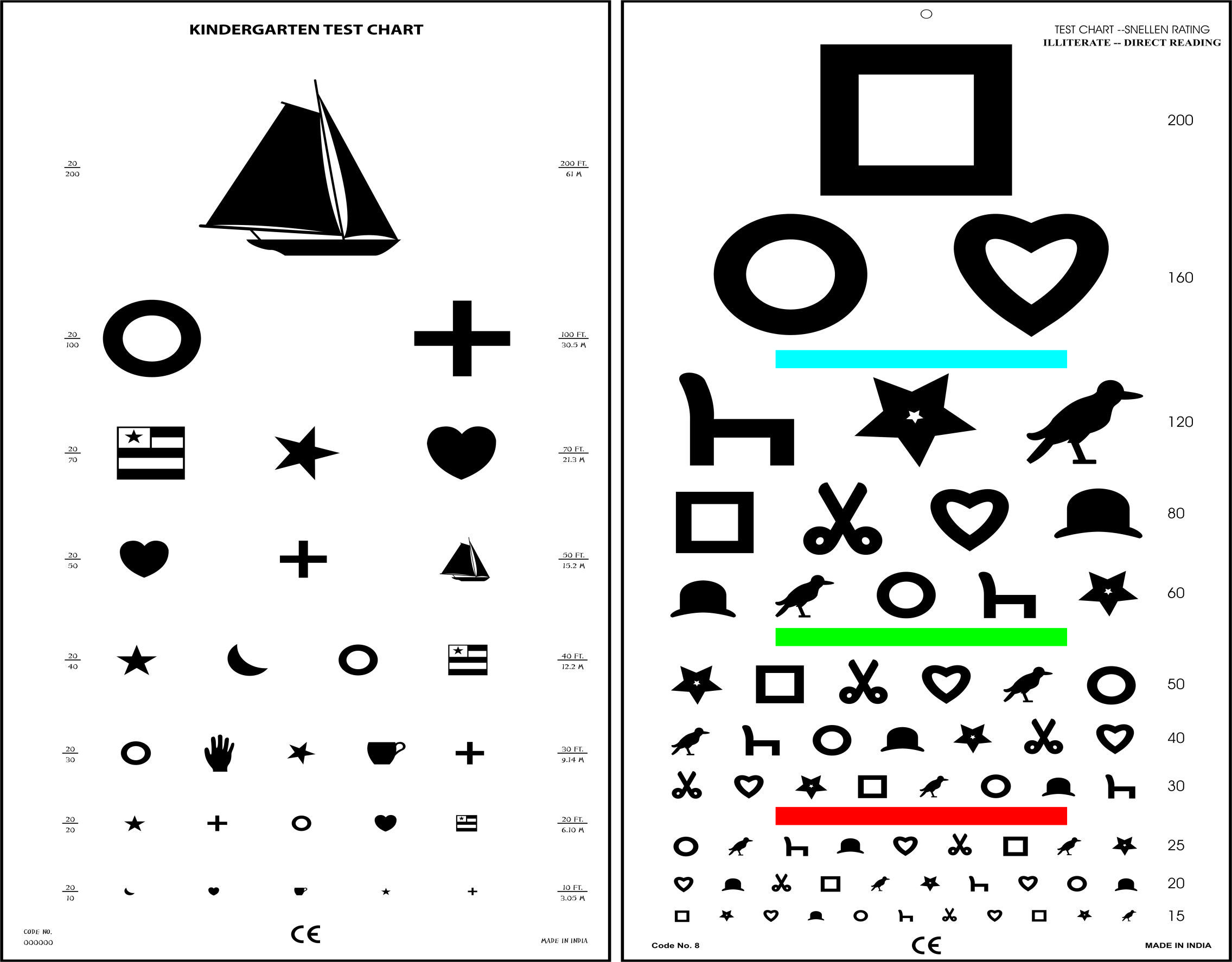 It is an image of Adorable Free Printable Kindergarten Eye Chart