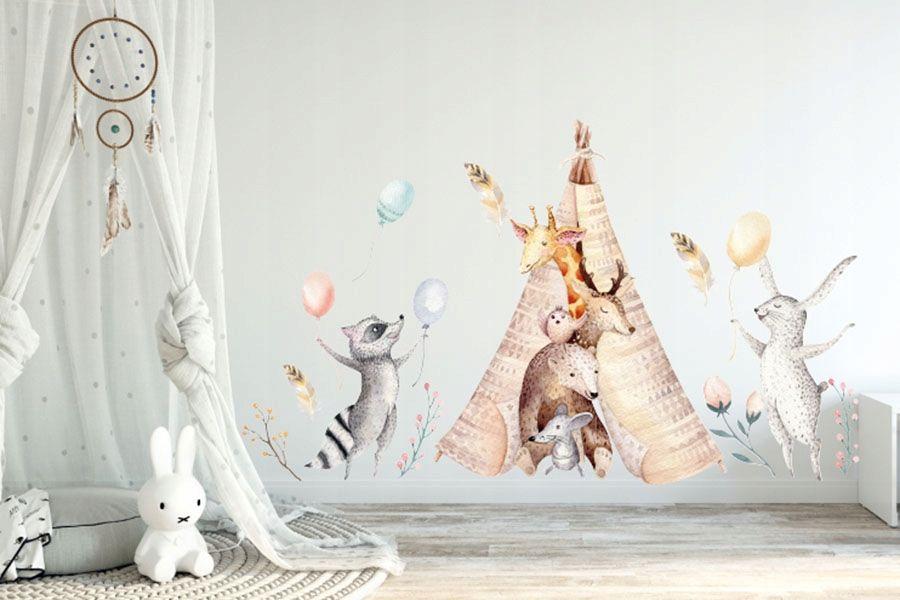 Naklejka Na Sciane Dla Dzieci Lesni Przyjaciele Baby Mobile Home Deco Pati