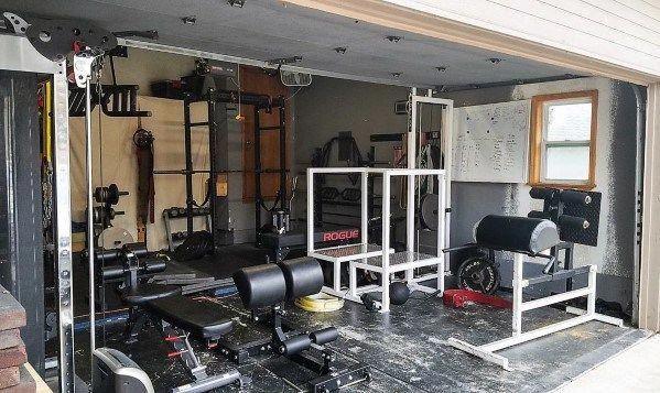 Top 75 best garage gym ideas home fitness center designs home