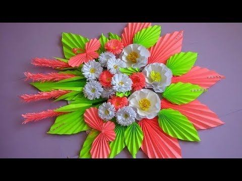 Diy Simple Home Decor Wall Decoration Hanging Flower Paper Craft Ideas Interior Design Where To Get