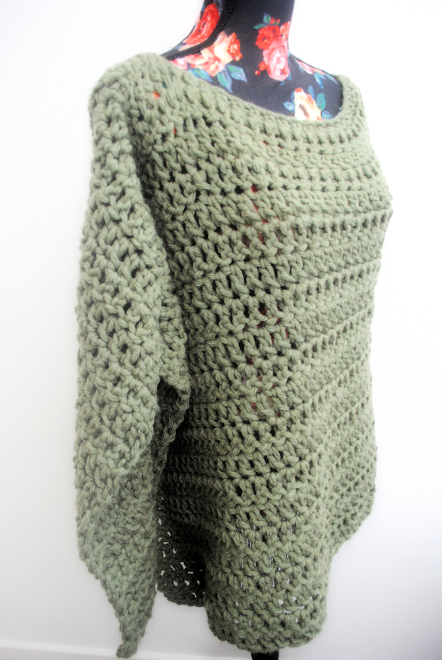 The Pronto Poncho free crochet pattern | Crochet scarf patterns ...
