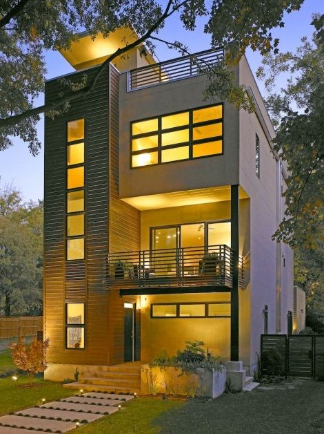 Exterior inspiration narrow house design of storey also best dream images home decor contemporary houses plans rh pinterest