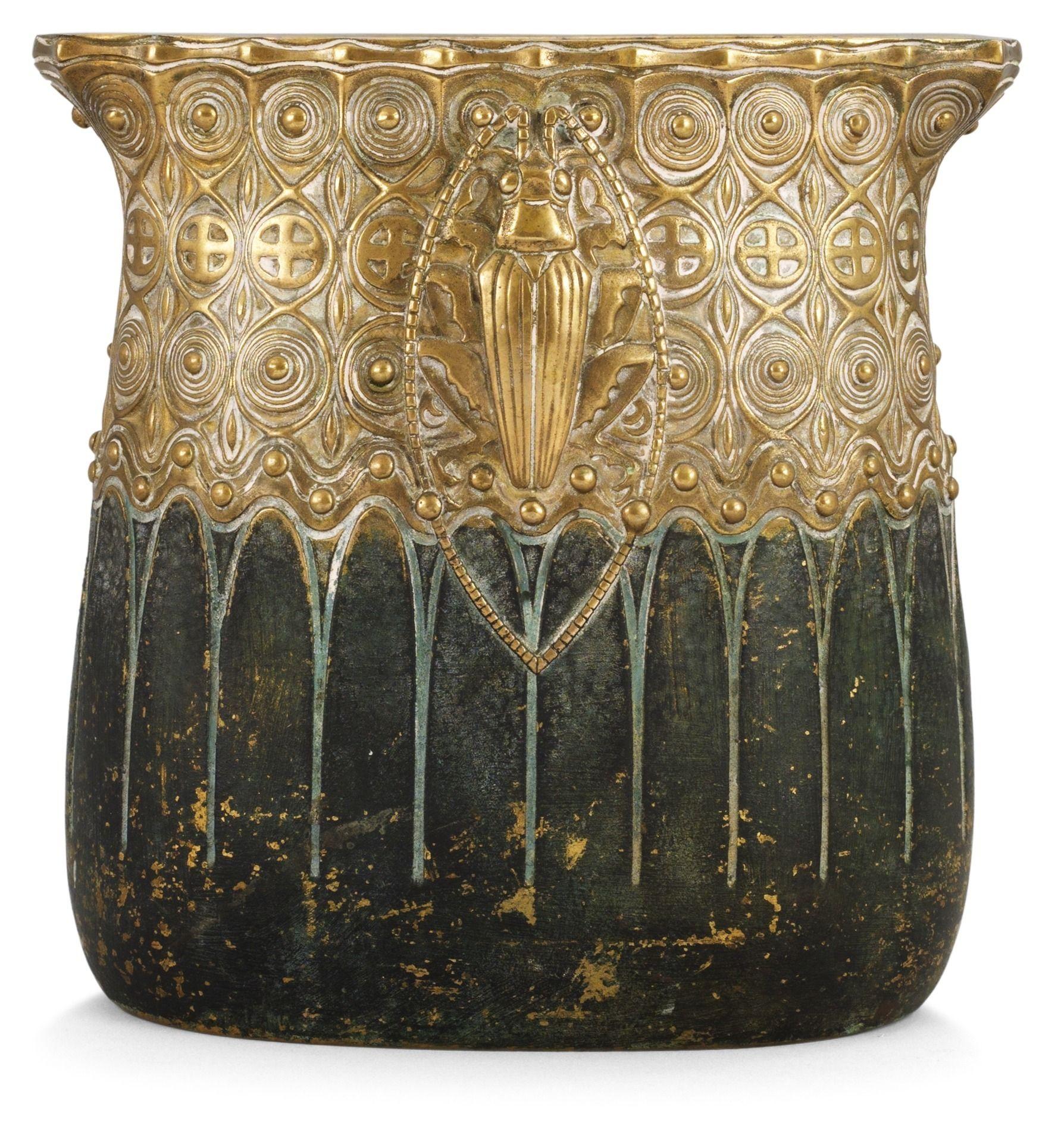 A gustav gurschner art nouveau bronze vase vienna for Grafik design praktikum wien