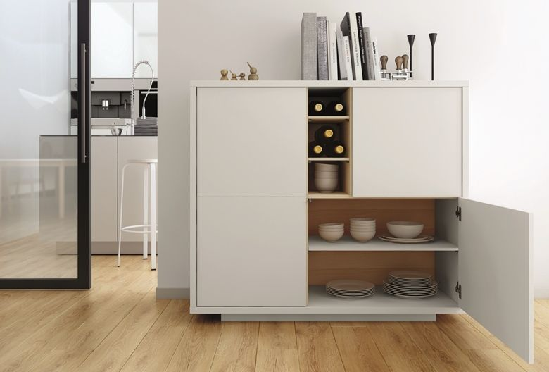 Contemporary Dining Room Cabinets Interesting Contemporary Dining Room Cabinet In Pure White And Oak With Flash Design Ideas
