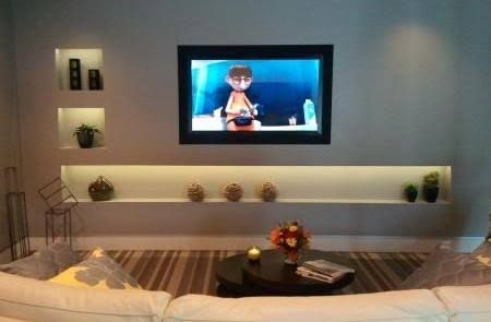 Tv Built Into Wall Google Search Home In 2019 Kitchen