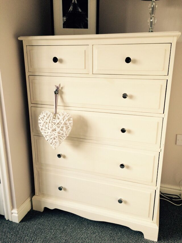 Best Hand Painted Tall Boy Chest Of Drawers Paint Rust Oleum Colour Antique White Finish Clear 640 x 480