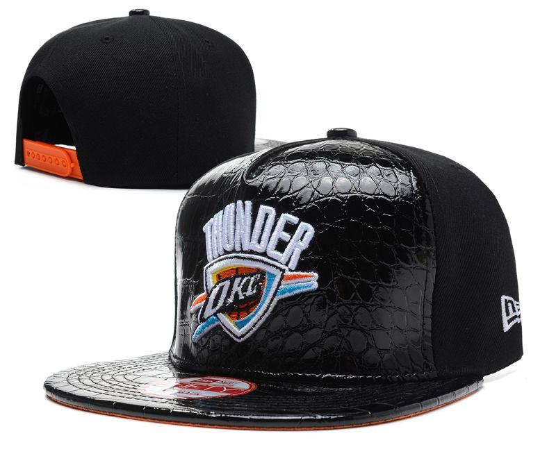 NBA Oklahoma City Thunder Hats New Era 9FIFTY Snapback leather brim Black  053! Only $8.90