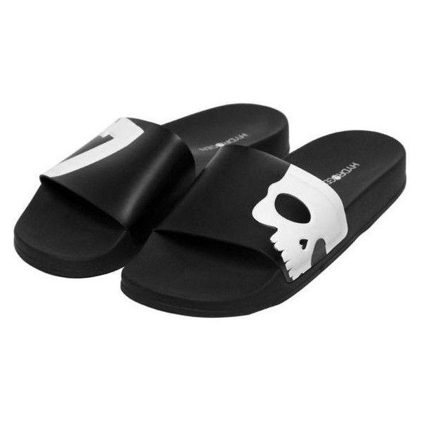 69f904fb4 Hydrogen Men Skull 17 Rubber Slide Sandals ❤ liked on Polyvore featuring  men s fashion