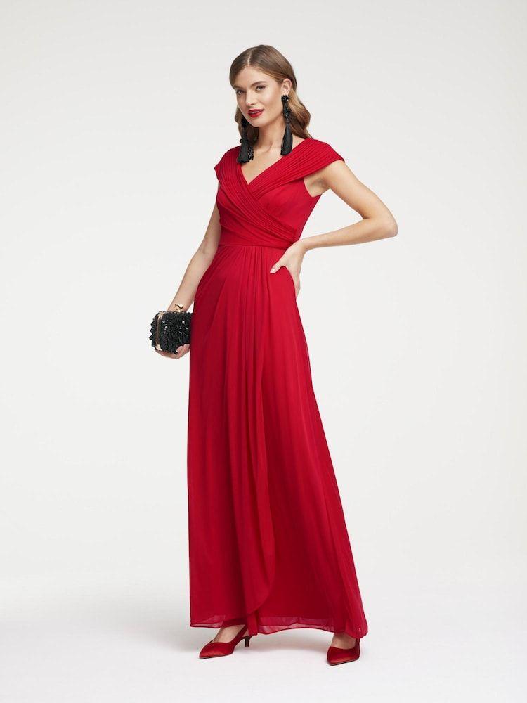 Heine Abendkleid Damen Rot Grosse 48 In 2020 Abendkleid Kleider Und Formelle Kleider