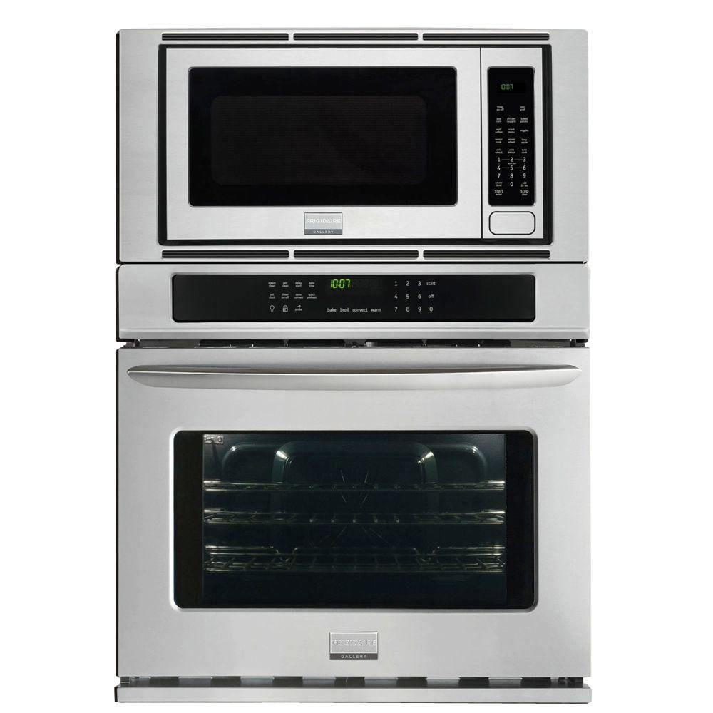 Frigidaire Gallery 30 In Electric Convection Wall Oven With Built Microwave Stainless