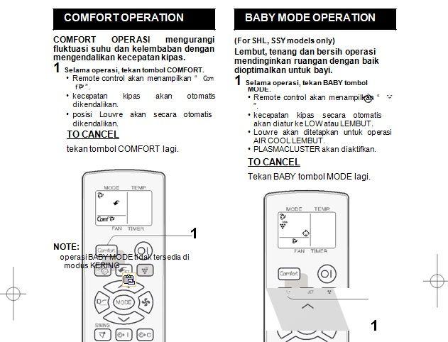 Cara Menggunakan Remote AC Sharp Semu Mode Remote Pilot