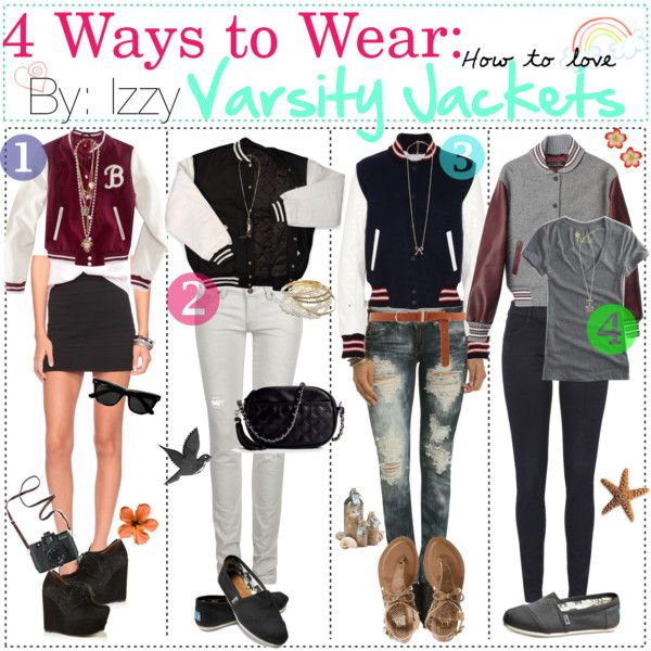 4 Ways To Wear Varsity Jackets Varsity Jacket Outfit Girls And