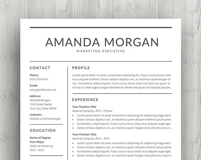 Resume Templates Bundle For Ms Word  Professional Resume Design