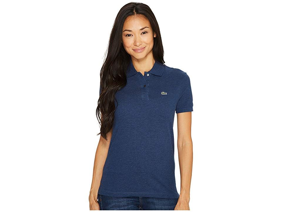 Lacoste Short Sleeve Two Button Classic Fit Pique Polo Women S Clothing Anchor Chine Polo Shirt Women Clothes Clothes For Women