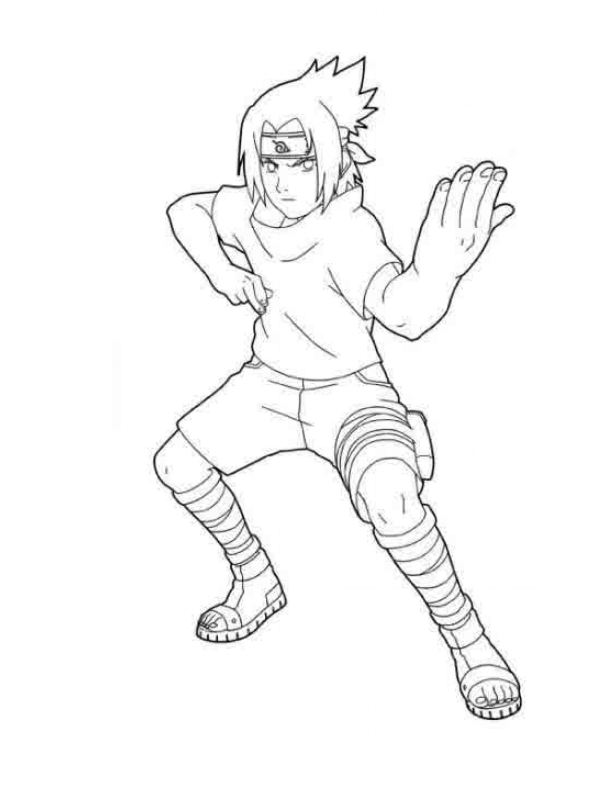Naruto Sasuke Coloring Book Pages