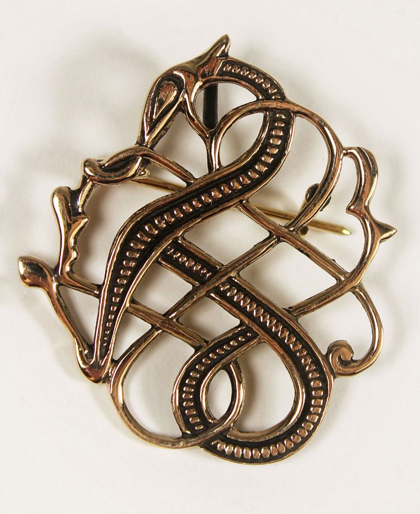 Viking Dragon Brooch --- Norse/Medieval/Jewelry/Pin/Bronze/Gold/Celtic/Skyrim in Jewellery & Watches, Costume Jewellery, Brooches & Pins | eBay