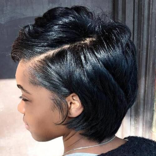 List Of Pinterest Short Hairstyles For Round Faces Black