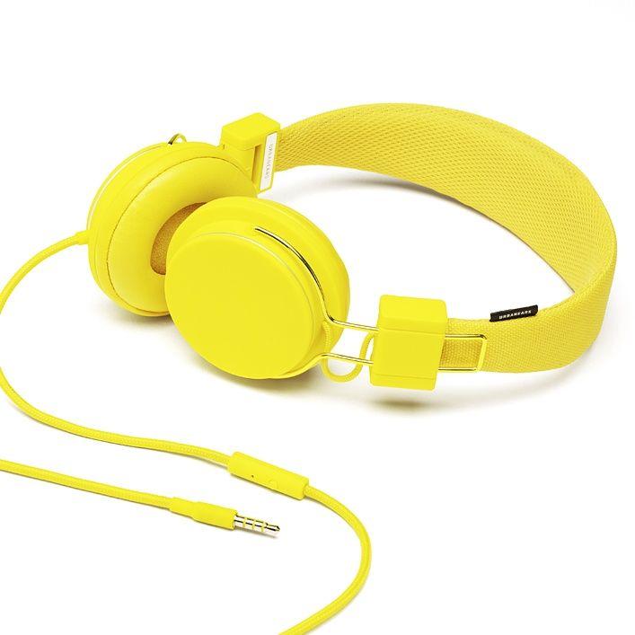 Classic Headphones Yellow Headphones Lemon Yellow