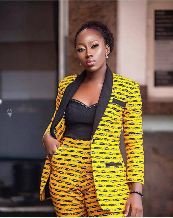African print Ankara suit African wax suit African fashion African wax 2 piece Ankara jacket Ankara trouser