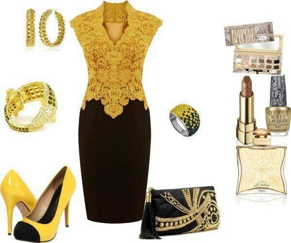 Glamour in gold fashion idea's