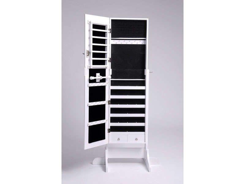 Miroir-coffre à bijoux MONICA coloris blanc - Vente de Miroir sur ...
