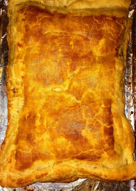 Ham Cheddar Pie Followed Bobby Flays Recipe On Brunch With Bobby