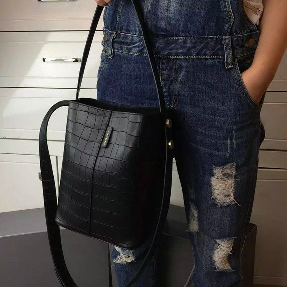 acb640b7a2 ... promo code for 2016 spring mulberry small kite tote bag in black deep  embossed croc print ...