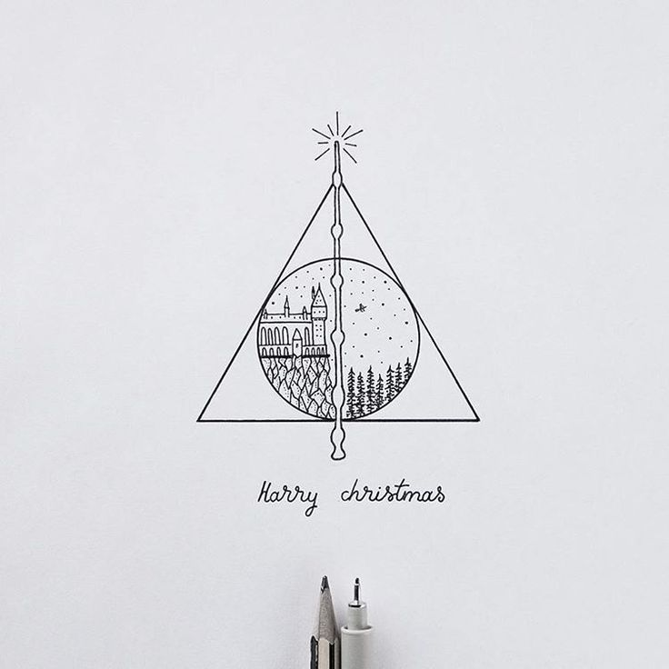 Deathly Hallows Hogwarts Resurection stone cloak of invisibility elder wand #drawings #art