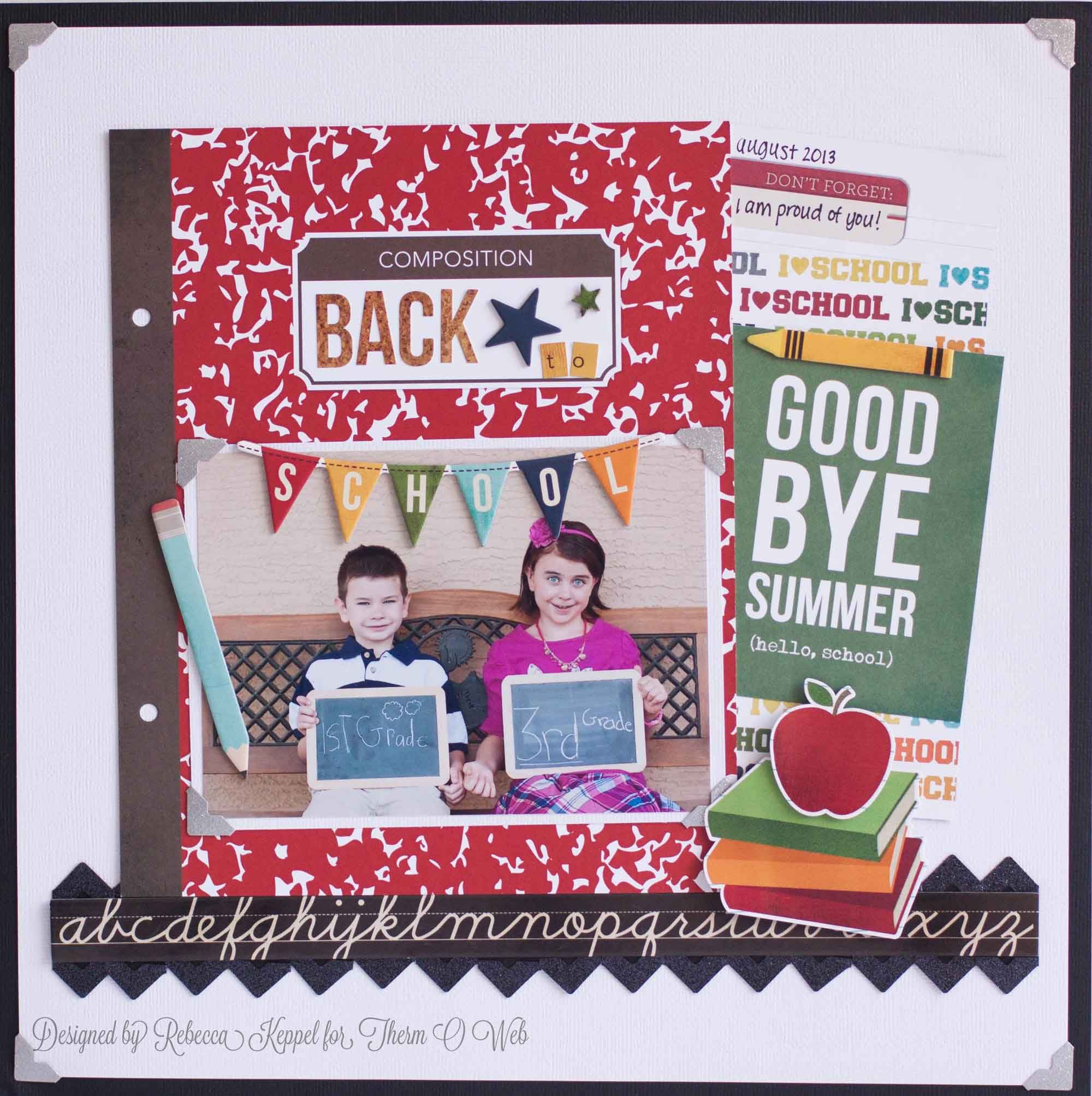 Scrapbook ideas school project - Simple Stories Smarty Pants Layouts Google Search
