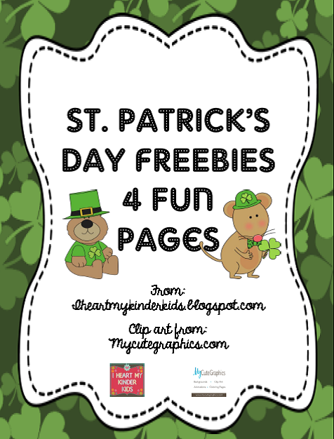 FREEBIES: 4 pages for St Patrick's Day! Includes counting on, number order from 10-100, color words and sight words.