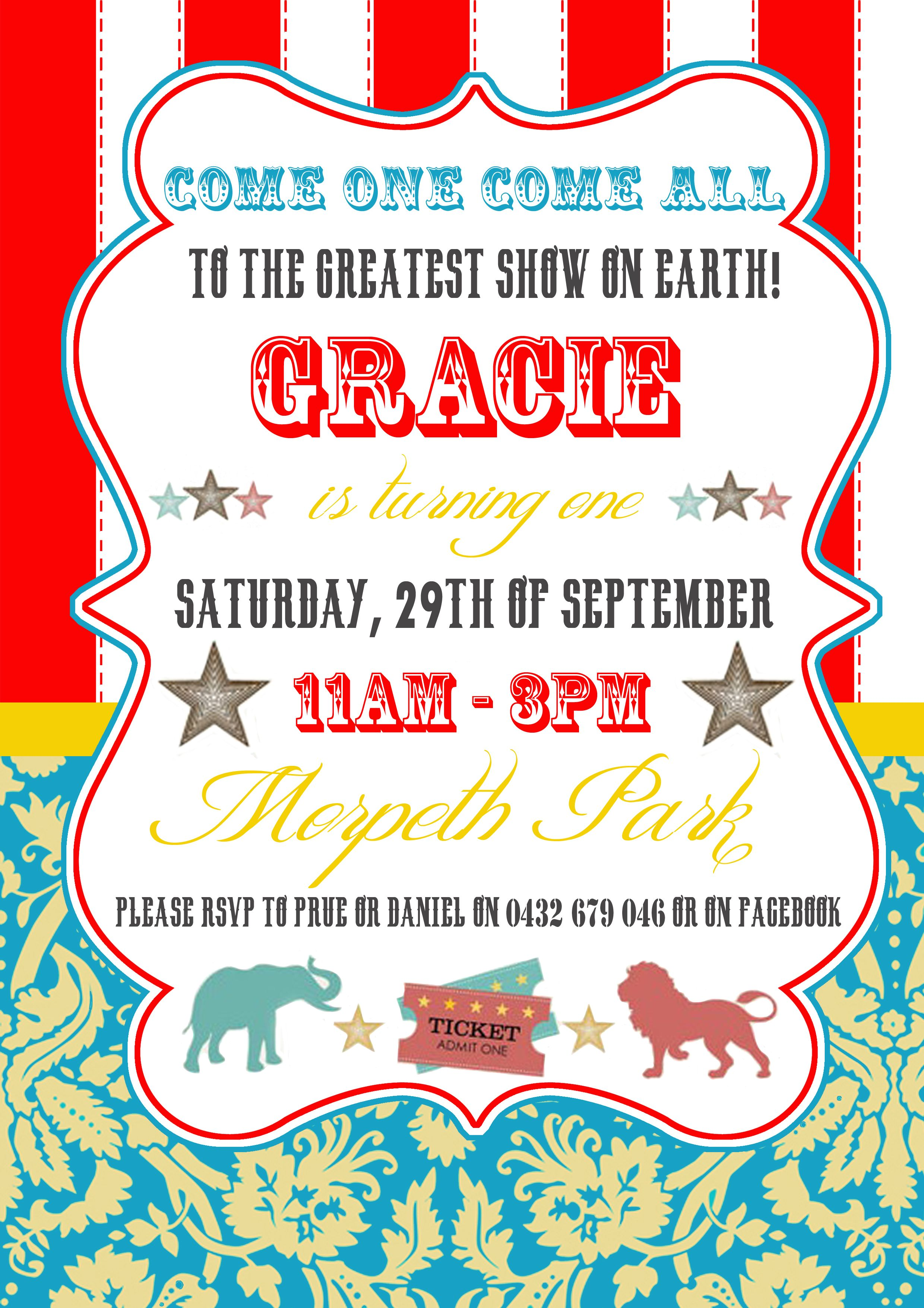 Circus themed invite | Circus theme | Pinterest | Circus theme ...