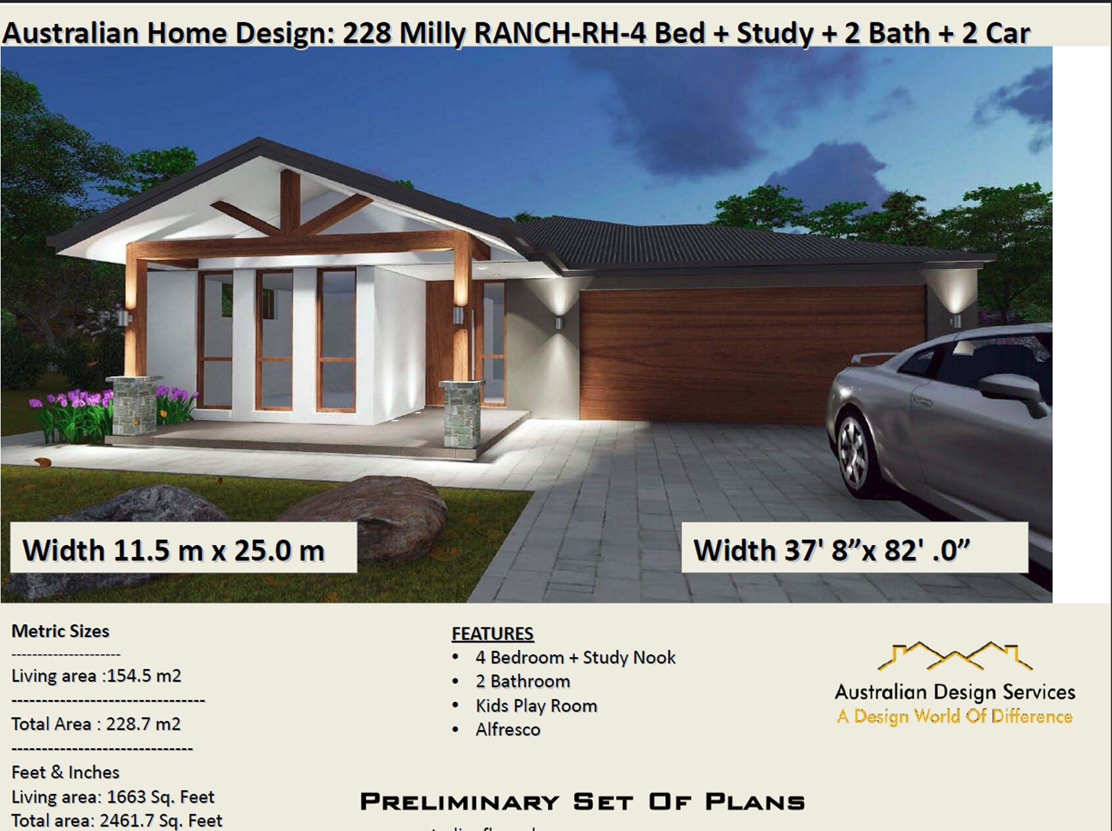 4 Bedroom Home Design 228 M2 4 Bedrooms Plus Study House Etsy House Design House Plans Bedroom House Plans