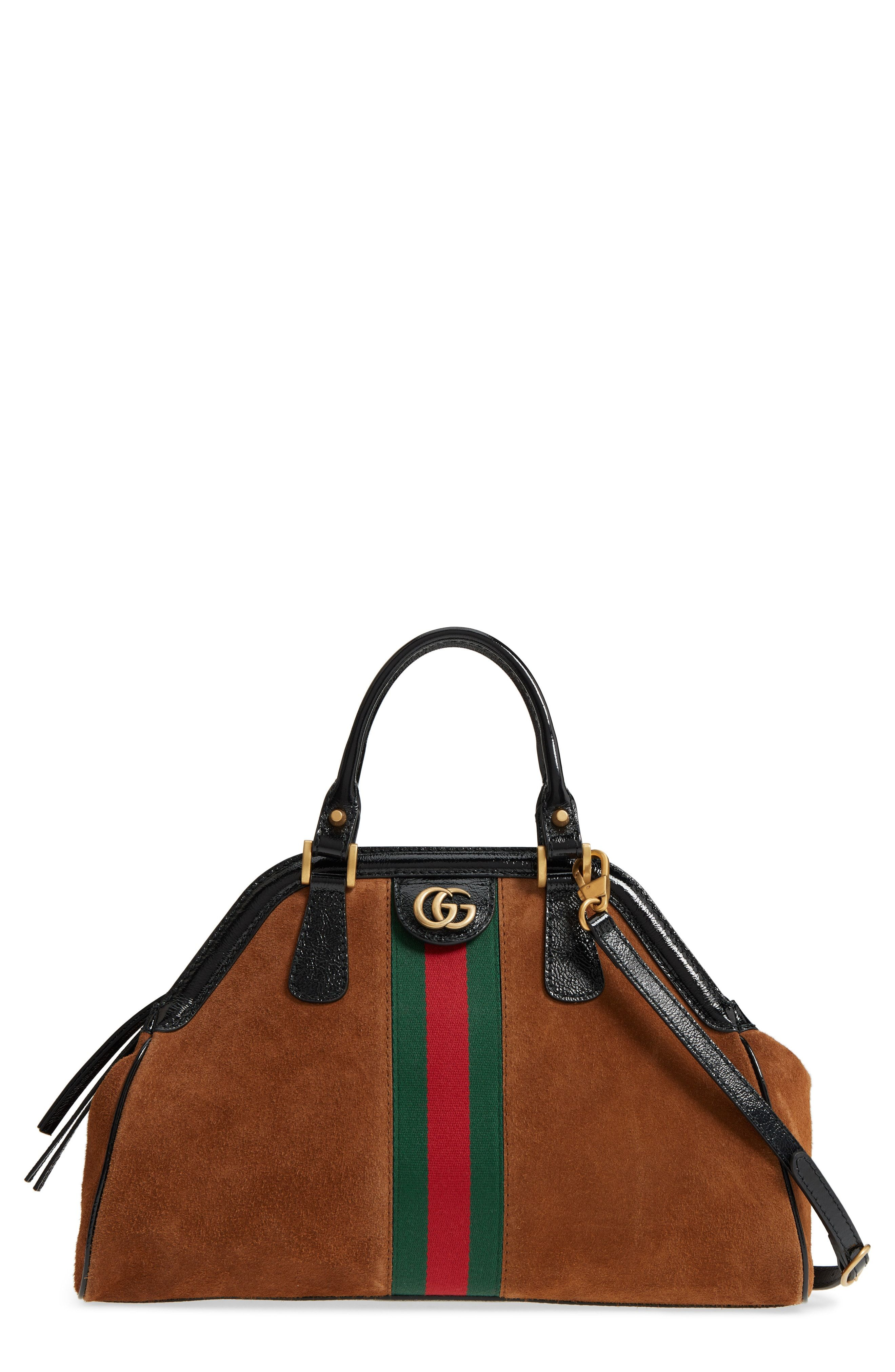 Gucci Medium Re Belle Suede Satchel Available At Nordstrom