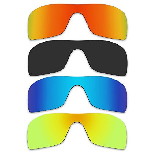 4 Pair Replacement Polarized Lenses for Oakley Batwolf Sunglasses ...