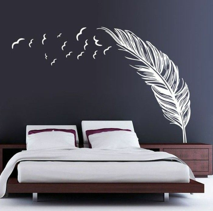 cheap wall sticker buy quality home decor directly from china art decor suppliers 2016 new wall sticker vinyl birds feather wings home decoration art - Home Interior Design Ideen Schlafzimmer