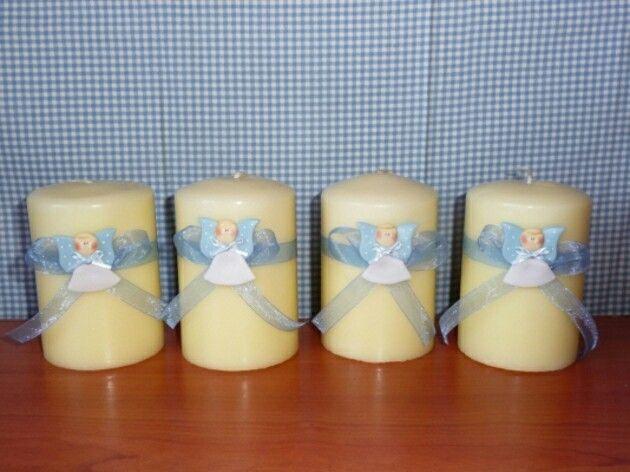 Angelitos para velas
